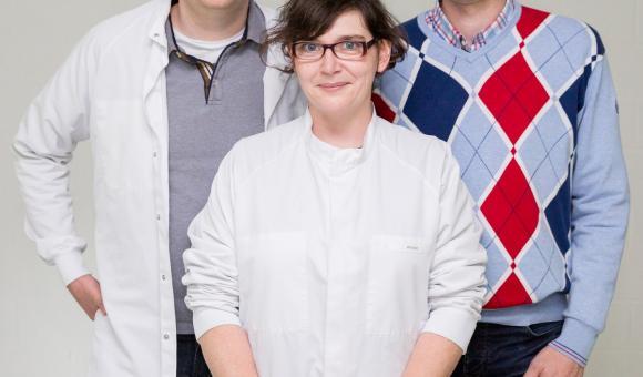 Das neue Team bei Cerhum: Gregory Nolens, Thibaut Breuls de Tiecken und Catherine Bronne